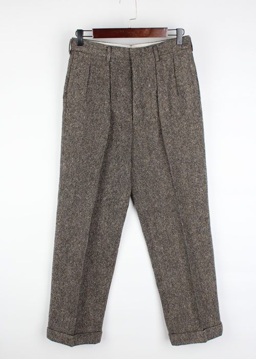 Donegal Weaverse tweed wool pants(29)