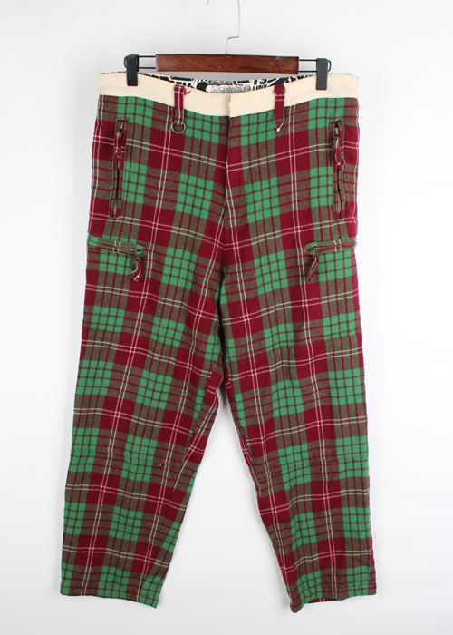 REVOLVER check wool pants(~34)