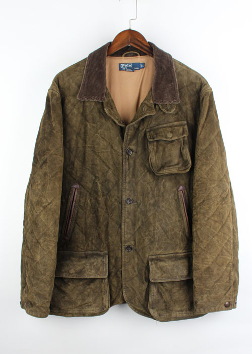 Polo by Ralph Lauren leather quilted hunting jacket