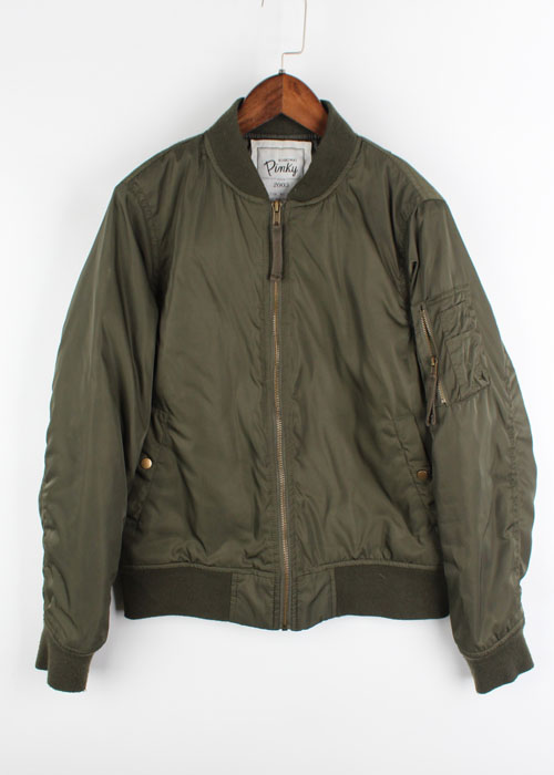 AS KNOW AS slim fit ma-1 jacket