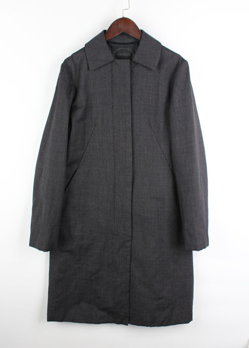 UNTITLED wool body padding coat