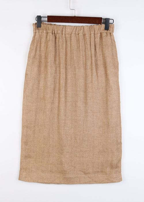 Demi-Luxe by BEAMS linen skirt