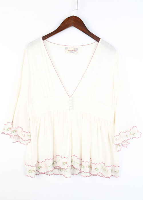 Auntie Rosa embroid blouse