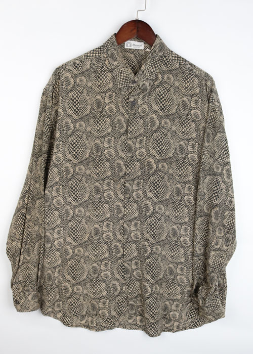 Messori snake pattern silk shirts