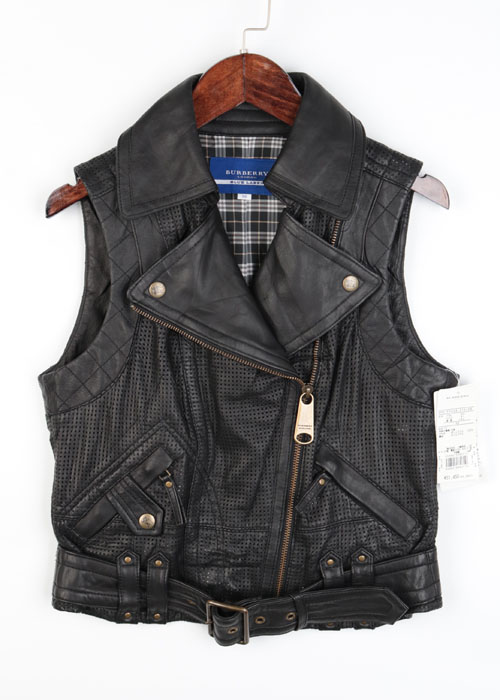 BURBERRY BLUE LABEL sheep skin leather vest