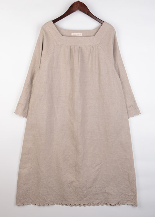 studio clip linen one-piece