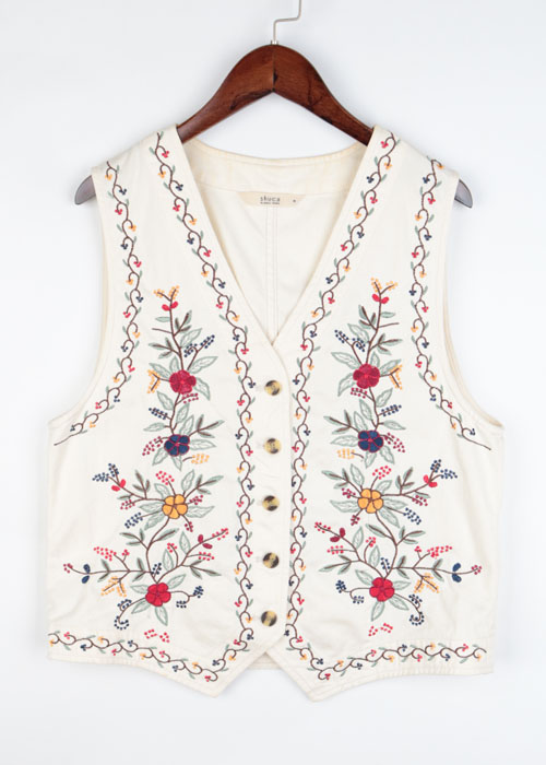 SHUCA embroid vest