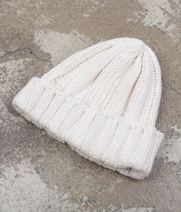 BEAMS+ cotton knit beanie