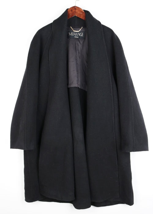 90's over size wool coat