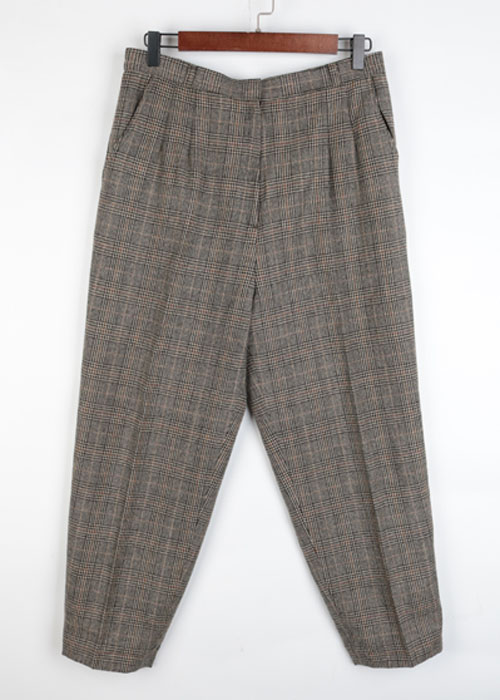 check wool slacks