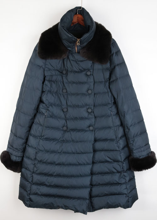 UNITED ARROWS down coat (rex trim)