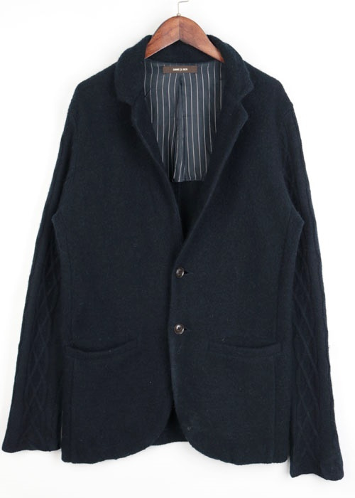 COMME CA MEN wool knit jacket