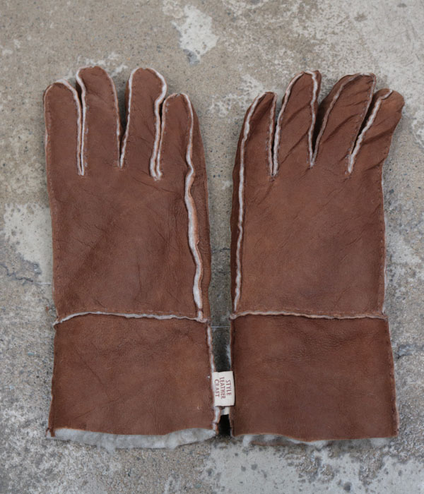 style leather craft mouton glove