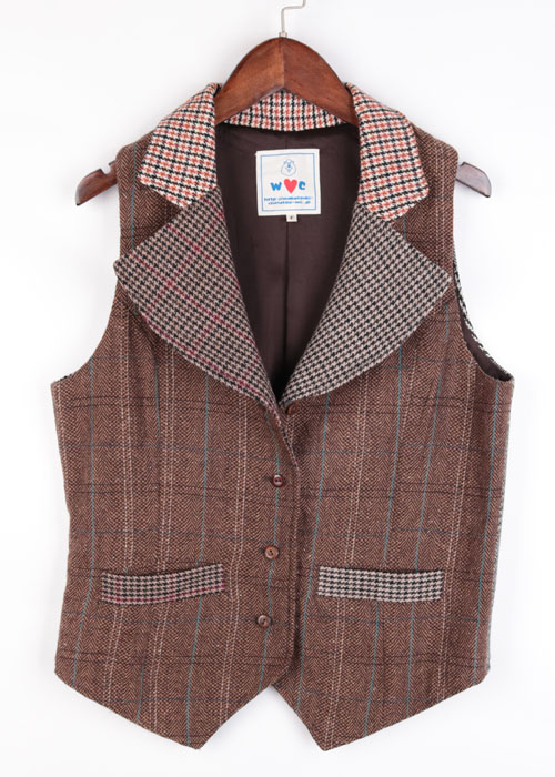 WC tweed wool vest