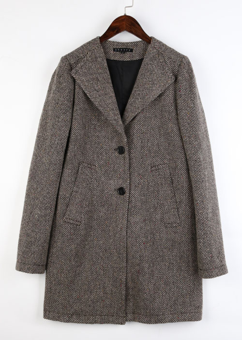 theory tweed wool coat