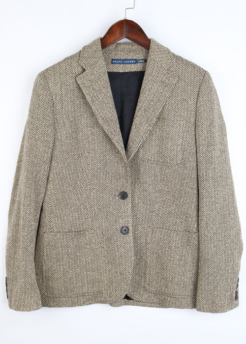 RALPH LAUREN silk 100% harringbone jacket