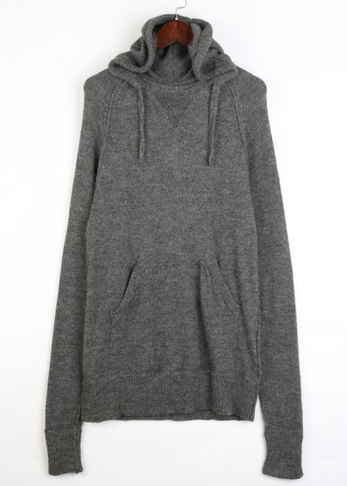 V-roomwool knit hoodie
