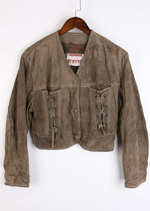 HOMONO PARIS vtg leather jacket