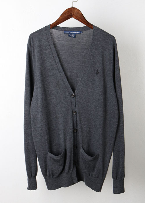 RALPH LAUREN SPORTS merino wool knit cardigan