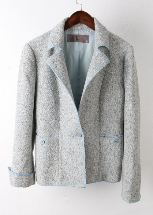 KARL LAGERFELD wool+silk tweed jacket
