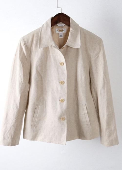 Talbots irish linen jacket