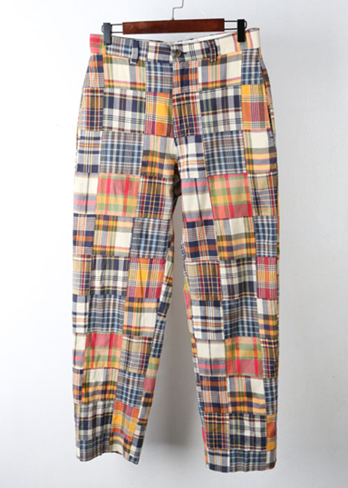 Brooks Brothers patch work madras pants (30)