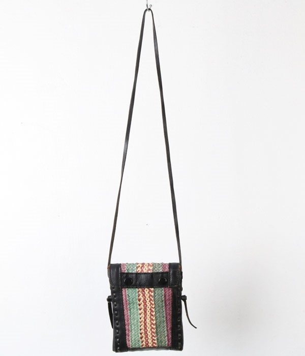 CHUI leather trim bag