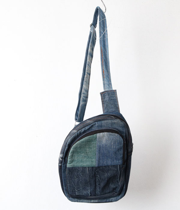 vtg denim sling bag