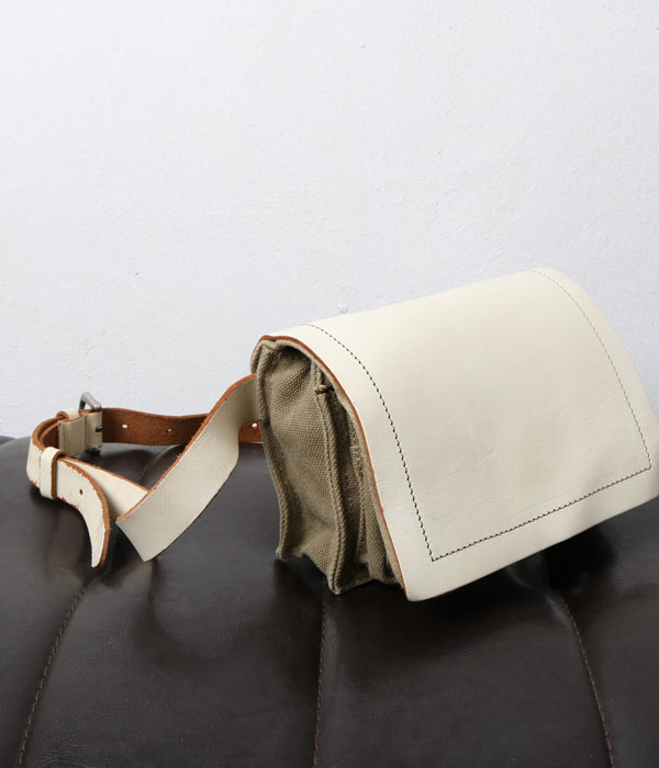 Paquet waist bag (canvas+leather)