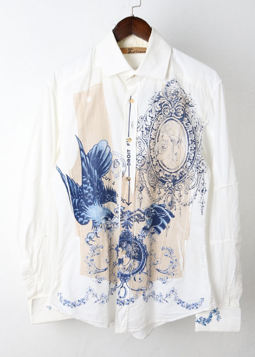 JOHN GALLIANO printing shirts