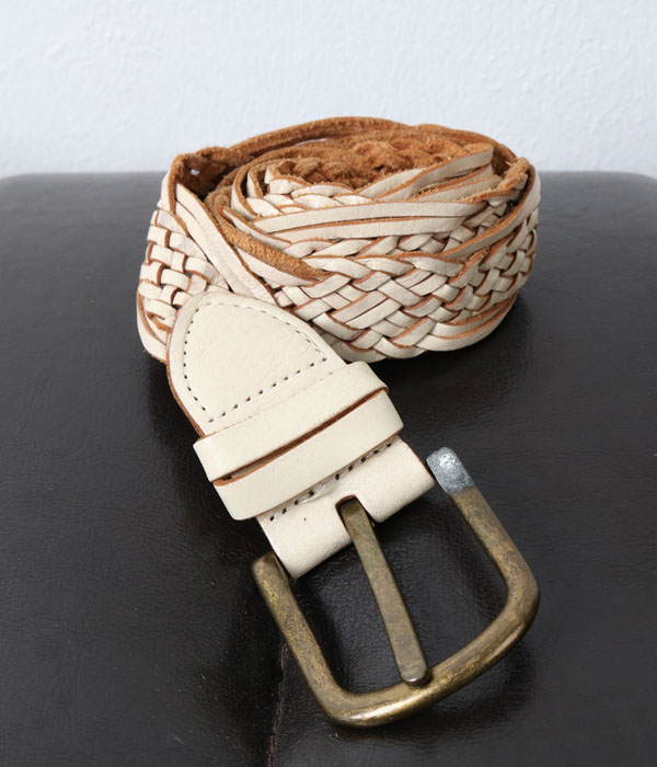 weaving leather belt
