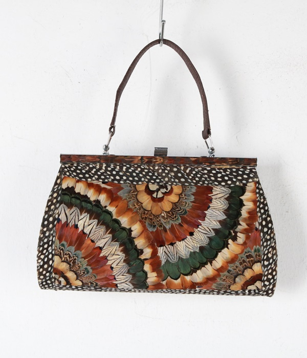 vtg feather bag